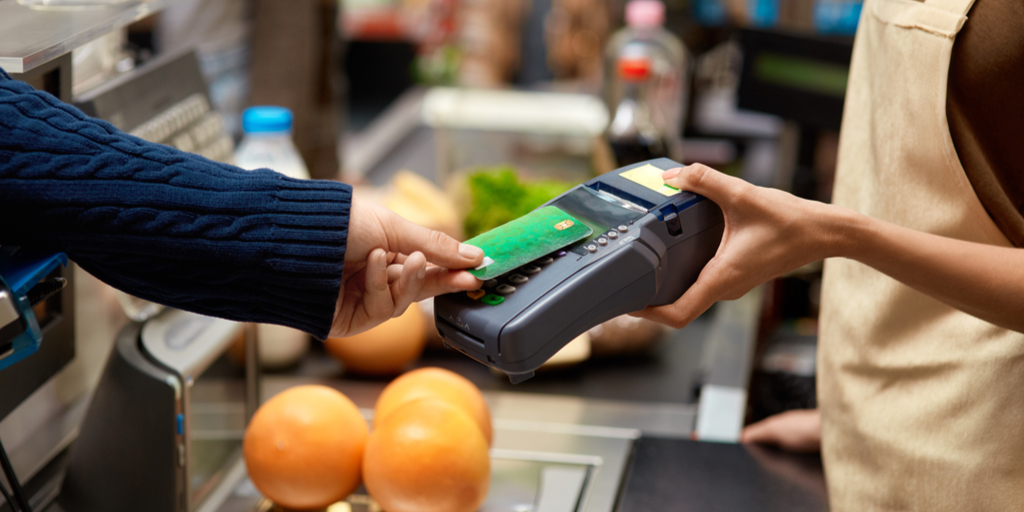 Contactless Payment Card at Supermarket