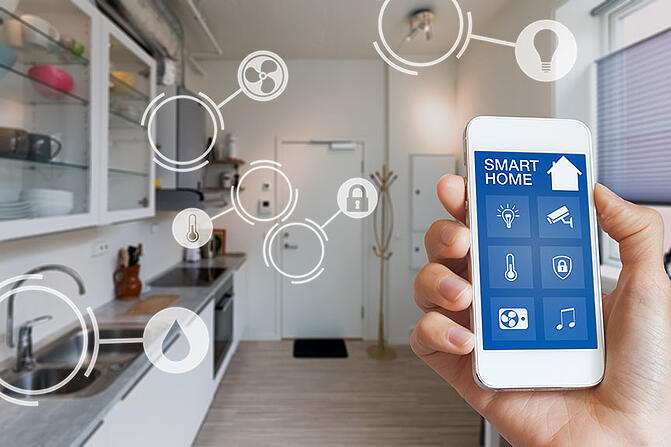 Smart-home-technology-interface-on smartphone-app
