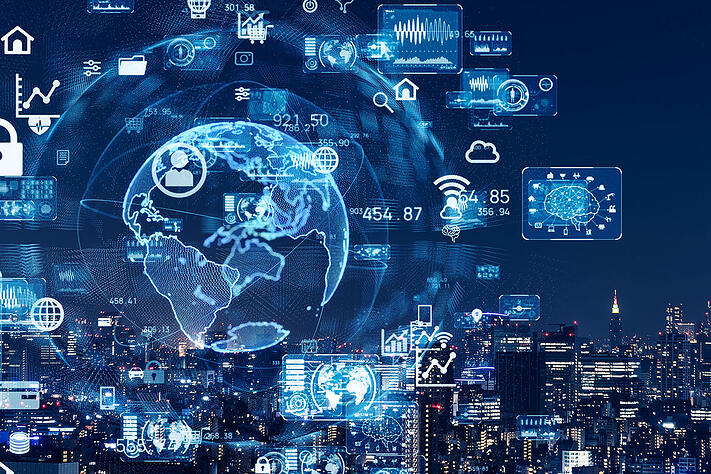 smart-city-and-communication-network-concept